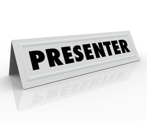 Presenter Name Tent Card Guest Speaker Spot