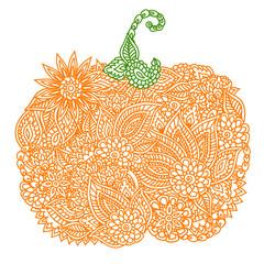 Doodle pumpkin