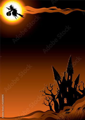 Halloween night. Vector background