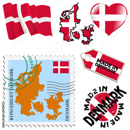 national colours of Denmark