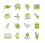 School and Education Icons -- Natura Series