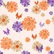 Pink grunge seamless spotty pattern
