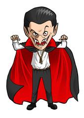 Cartoon illustration of a Dracula