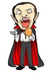 Cartoon illustration of a Dracula