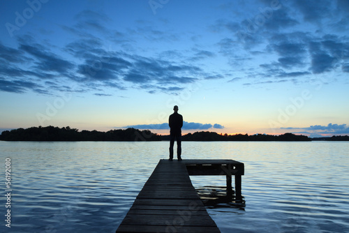 Man on a jetty