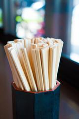 日本の食堂の箸