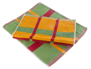 towel, kitchen towel on background.