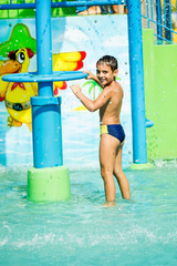 Child at aqua park