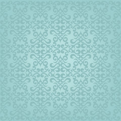 Blue wallpaper, fabric, wrapping paper, seamless pattern
