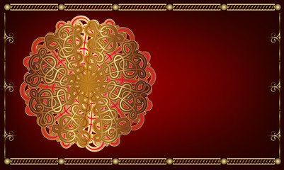 Greeting card in oriental style