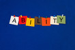 Ability - business or sports sign