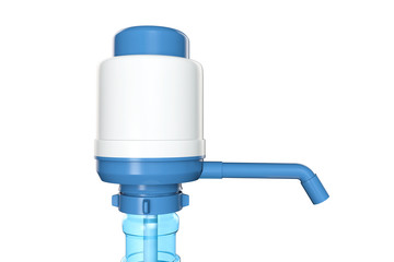 Manual water pump for water bottle