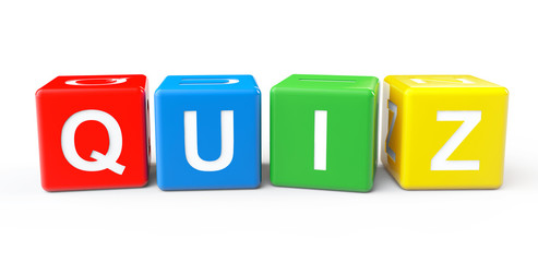 Toy cubes as Quiz sign