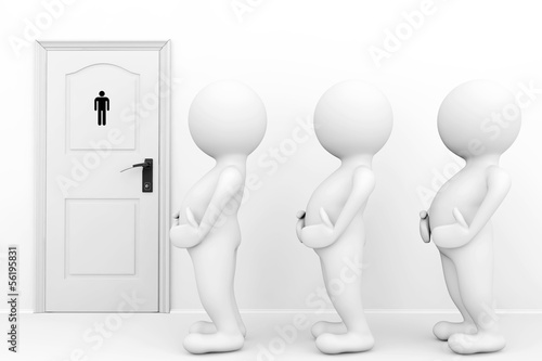 3d persons mans need a toilet