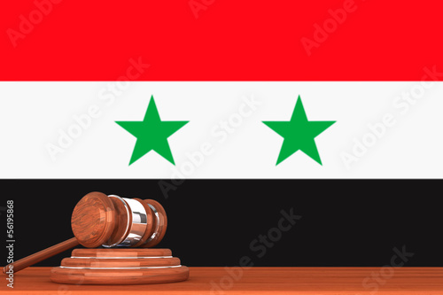 Gavel with Flag Of Syria