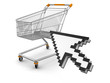 Shopping Cart  and cursor (clipping path included)