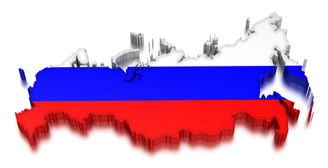 Russia (clipping path included)