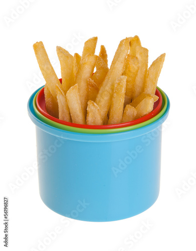 French Fries on background