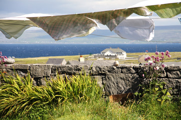 laundry hang to dry in Aran islands, Ireland