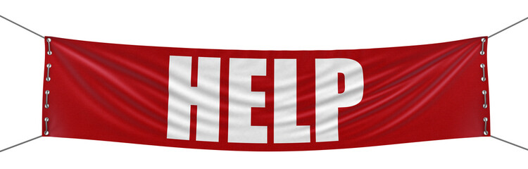 Help Banner (clipping path included)