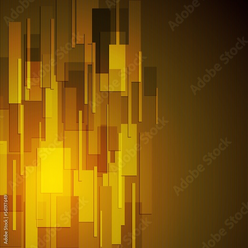 Dark yellow rectangle shapes. Vector background eps 10