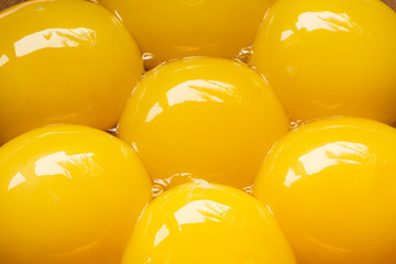 Egg yolks, close up