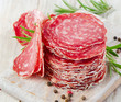 Slices of salami
