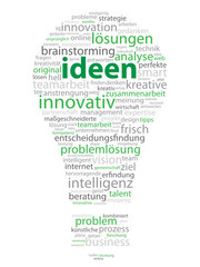 """IDEEN"" (Lampe Ikone Kreativität Strategie Lösungen Innovation)"