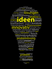 """IDEEN"" (Innovation Kreativität Strategie Lösungen Lampe Ikone)"