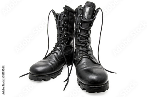 Black army shoes