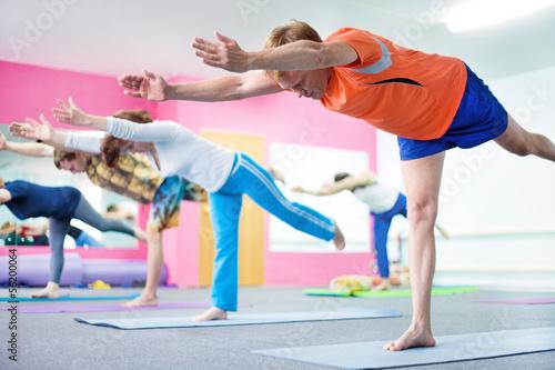 Foto op Plexiglas Fitness Yoga class