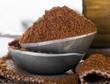 Ground coffee heap