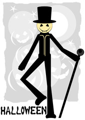 halloween background with boogeyman