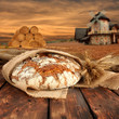bread and sunset
