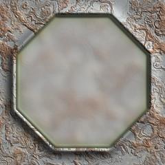 Grunge metal frame.