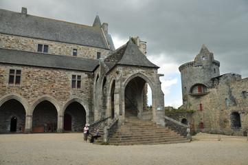 Interior recinto Castillo de Vitré, Francia