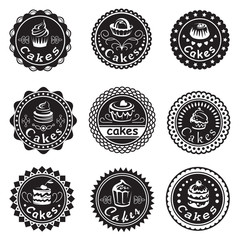 collection of various cupcakes labels