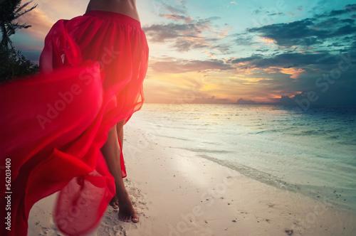 Papiers peints Ile Red Skirt