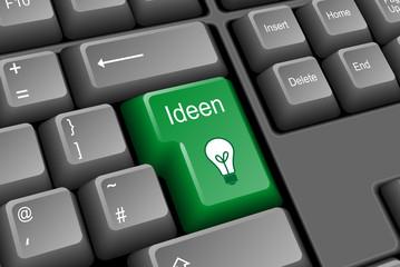 IDEEN Taste (Kreativität Innovation Strategie Lösungen Erfolg)