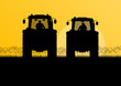griculture tractors in cultivated country field landscape backgr