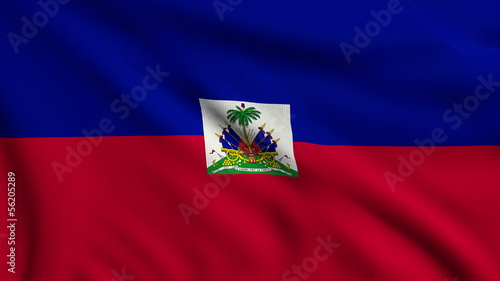 Flag of Haiti looping