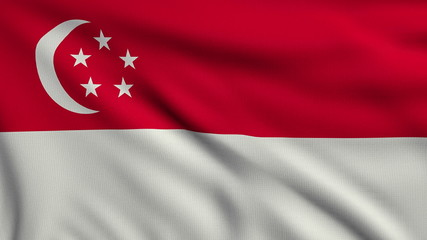 Flag of Singapore looping
