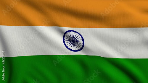 Flag of India looping