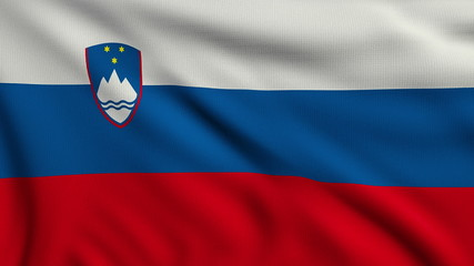 Flag of Slovenia looping