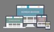 Flat Responsive Web Design - 56205811