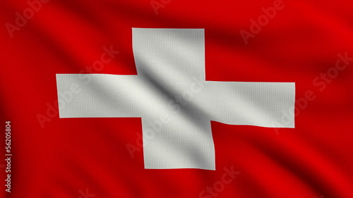 Flag of Switzerland looping