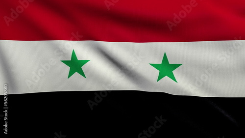 Flag of Syria looping