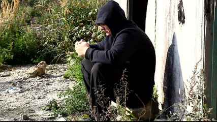 Man with a rosary at the ruins of old building episode 4