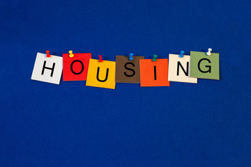 Housing - Business and Economics sign