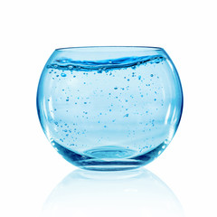 Fish bowl on white background